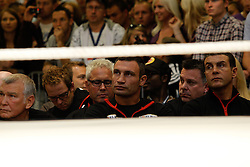 07.09.2011, Centrum Handlowe Magnolia Park, Warschau, POL, WBC, Training Vitali Klitschko und Tomasz Adamek, im Bild Vitali Klitschko beobachtet das Training seines herausforderers // during a training session before the WBC world title fight between Vitali Klitschko and Tomasz Adamek in Warsaw, Poland on 07/09/2011. EXPA Pictures © 2011, PhotoCredit: EXPA/ Newspix/ Sebastian Borowski +++++ ATTENTION - FOR AUSTRIA/(AUT), SLOVENIA/(SLO), SERBIA/(SRB), CROATIA/(CRO), SWISS/(SUI) and SWEDEN/(SWE) CLIENT ONLY +++++