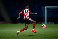 Jean Belahouan of Sheffield Utd during the Professional Development League  match at the Proact Stadium, Chesterfield. Picture date: 3rd February 2020. Picture credit should read: Simon Bellis/Sportimage