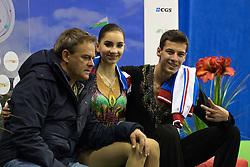 Eva Khachaturian and Andrei Bagin of Russia at ISU Junior Grand Prix of Figure Skating Ljubljana Cup 2014 on August 29, 2014 in Hala Tivoli, Ljubljana, Slovenia. Photo by Matic Klansek Velej / Sportida