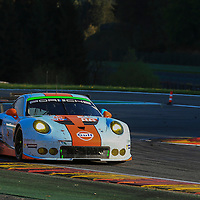 #86, Porsche 911 RSR, Gulf Racing, driven by Michael Wainwright, Adam Carroll, Ben Barker, FIA WEC 6hrs of Spa 2016, 07/05/2016,