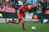 Liverpool's Joe Allen in action. Pre-season friendly match, Preston North End v Liverpool at Deepdale in Preston, England on Saturday 19th July 2014.<br /> pic by Chris Stading, Andrew Orchard sports photography.