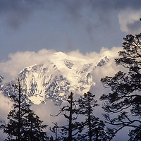 Nilgiri Peaks viewed from the base of Dhaulagiri, Nepal