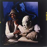 Portrait of jazz musician and artist John Heard.