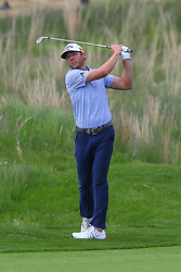May 19, 2019 - Farmingdale, NY, U.S. - FARMINGDALE, NY - MAY 19:  Sam Burns of the United States on the 18th hole during the final round of the 2019 PGA Championship at the Bethpage Black course with a score of 8 under par on May 19, 2019 in Farmingdale, New York.(Photo by Rich Graessle/Icon Sportswire) (Credit Image: © Rich Graessle/Icon SMI via ZUMA Press)