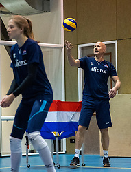 14-05-2019 NED: Training national volleyball team Women, Arnhem<br /> Dutch volleyball team women starts the training yesterday. There is a tough program ahead this summer. They starts with group matches of the VNL, then OKT in Catania in Italy, Worldcup in Japan and the European Championship played in Hungary / Ass coach Marko Klok of Netherlands