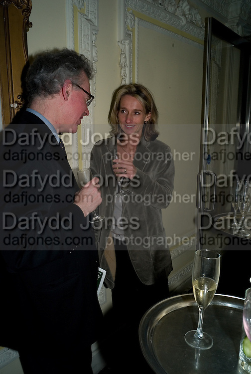 DANIEL JOHNSON; DAISY WAUGH, The Literary Review Bad sex in Fiction award 2008. The In and Out Club. 4 St. James Square. London SW1. 25 November 2008. *** Local Caption *** -DO NOT ARCHIVE -Copyright Photograph by Dafydd Jones. 248 Clapham Rd. London SW9 0PZ. Tel 0207 820 0771. www.dafjones.com