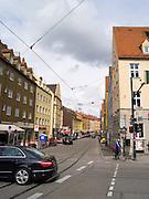 Along Jakoberstrasse, Augsburg, Bavaria, Germany
