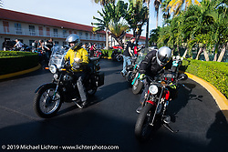 Brian Pease heading out of Miami on his 1938 Nimbus C (in a 52 frame) during the Cross Country Chase motorcycle endurance run from Sault Sainte Marie, MI to Key West, FL. (for vintage bikes from 1930-1948). Stage-10 covered 110 miles from Miami to the finish in Key West, FL USA. Sunday, September 15, 2019. Photography ©2019 Michael Lichter.