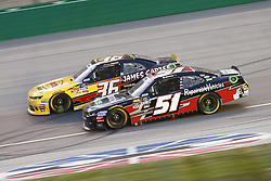 July 13, 2018 - Sparta, Kentucky, United States of America - Alex Labbe (36) and Jeremy Clements (51) battle for position during the Alsco 300 at Kentucky Speedway in Sparta, Kentucky. (Credit Image: © Chris Owens Asp Inc/ASP via ZUMA Wire)