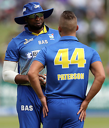 Kieron Pollard (captain) of BuildNat Cape Cobras during the T20 Challenge cricket match between the Dolphins and the Cobras at the Kingsmead stadium in Durban, KwaZulu Natal, South Africa on the 4th December 2016<br /> <br /> Photo by:   Steve Haag / Real Time Images