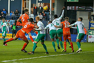 Luton Town defender Sonny Bradley (5) heads towards the goal during the EFL Sky Bet League 1 match between Luton Town and Plymouth Argyle at Kenilworth Road, Luton, England on 17 November 2018.