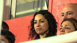 © London News Pictures. 29/03/2016. Former Chelsea doctor Eva Carneiro watches Gibraltar's 5-0 home defeat by Latvia on March 29, 2016. Carneiro is currently involved in a dispute with her former club over her departure following a dispute with the then manager, Jose Mourinho. Photo credit: gibvisuals/LNP