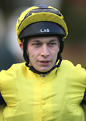 Jockey Luke Morris during day one of The Bet365 Craven Meeting at Newmarket Racecourse, Newmarket. PRESS ASSOCIATION Photo. Picture date: Tuesday April 17, 2018. See PA story RACING Newmarket. Photo credit should read: Nigel French/PA Wire.