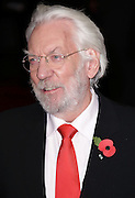 """Nov 10, 2014 - """"The Hunger Games: Mockingjay Part 1""""  World Premiere at Odeon Leicester Square, London<br /> <br /> Pictured: Donald Sutherland<br /> ©Exclusivepix"""
