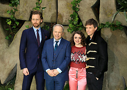 at the Early Man World Premiere at BFI IMAX in London. 14 Jan 2018 Pictured: Tom Hiddleston, Nick Park, Maisie Williams and Eddie Redmayne. Photo credit: MEGA TheMegaAgency.com +1 888 505 6342