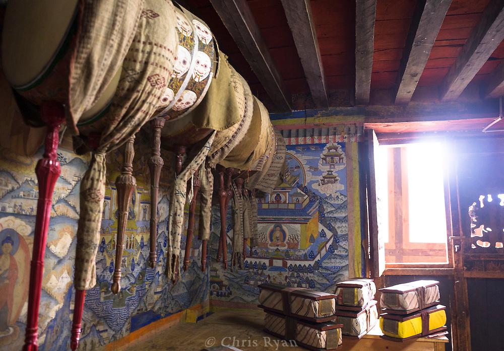 Buddhist texts, Jamtey Gompa (10,500'), Haa Valley