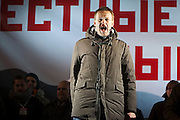 Moscow, Russia, 05/03/2012..Anti-corruption campaigner Alexei Navalny addresses some 20,000 people protesting in and around Pushkin Square against Vladimir Putin's victory in the Russian presidential election.