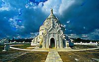 Hsinbyume Pagoda, Mingun, on the Ayeyarwady River, near Mandalay, Burma (Myanmar)