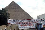 3/1/1979 President Jimmy Carter visits Anwar Sadat in Egypt...Photo by Dennis Brack  C B