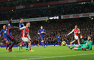 Arsenal's Jack Wilshere sees his shot saved by Manchester United's David De Gea<br /> <br /> Barclays Premier League- Arsenal vs Manchester United - Emirates Stadium - England - 22nd November 2014 - Picture David Klein/Sportimage