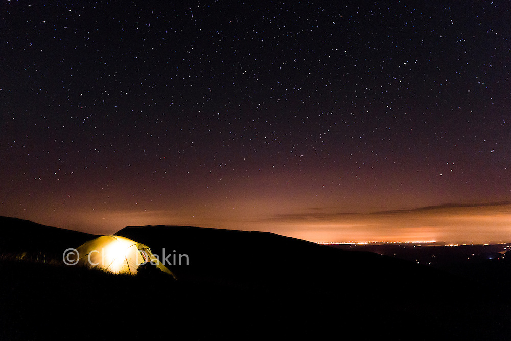 Wildcamping under the stars on the side of Helvellyn
