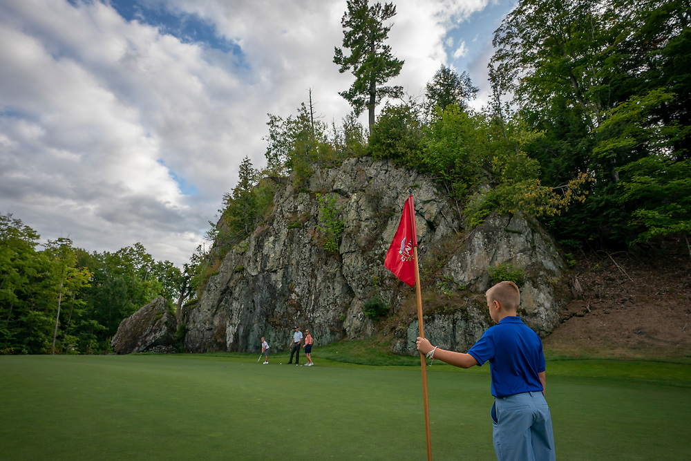 Golfing at Greywalls in Marquette, Michigan.