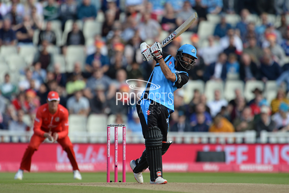Moeen Ali of Worcestershire Rapids batting during the Vitality T20 Finals Day Semi Final 2018 match between Worcestershire Rapids and Lancashire Lightning at Edgbaston, Birmingham, United Kingdom on 15 September 2018.