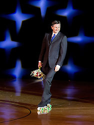 Borut Pahor, president of Slovenia during special artistic roller skating event when Lucija Mlinaric of Slovenia, World and European Champion ended her successful sports career, on November 7, 2015 in Rence, Slovenia. Photo by Vid Ponikvar / Sportida