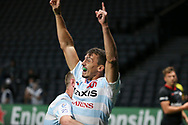 Juan Imhoff of Racing 92 celebrates his winning try during the Champions Cup, semi-final rugby union match between Racing 92 and Saracens on September 26, 2020 at Paris La Defense Arena in Nanterre near Paris, France - Photo Juan Soliz / ProSportsImages / DPPI