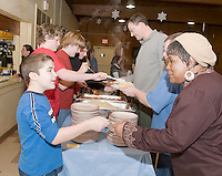 Riley Alward benefit spaghetti supper for Haiti relief at the Gilford United Methodist Church January 30, 2010.