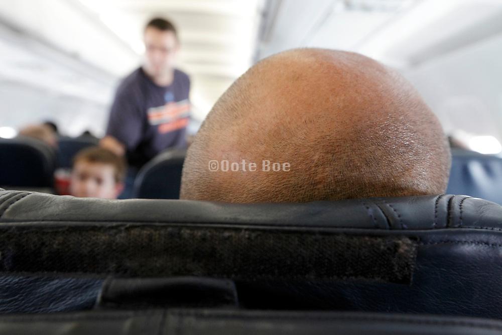 inside passenger airplane
