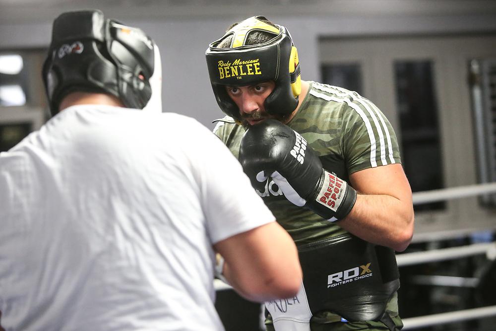 BOXEN: EC Boxing, Training, Hamburg, 07.01.2020<br /> Nikola Milacic<br /> © Torsten Helmke