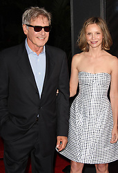 """Harrison Ford and Calista Flockhart at the premiere of """"Cowboys & Aliens"""", San Diego, California"""