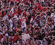 MORNING JOURNAL/DAVID RICHARD&#xA;Buckeyes' fans after the game on the field.<br />