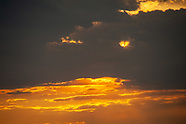 Sunset In Villas and Lightning Strikes Over Atlantic Ocean
