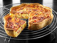 quiche; Lorraine; quiches; recipe; prepared; food; eggs; baked; pastry; studio; photo; traditional