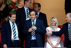 25-06-2006 VOETBAL: FIFA WORLD CUP: NEDERLAND - PORTUGAL: NURNBERG<br /> Oranje verliest in een beladen duel met 1-0 van Portugal en is uitgeschakeld / Michel Platini<br /> ©2006-WWW.FOTOHOOGENDOORN.NL