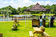 Henley on Thames, England, United KingdomFriday, 02/07/2021, Refreshment Point, Pop Up, offering food and drinks,  sited on Upper Thames Rowing Club land, Henley Women's Regatta, Henley Reach,  [Peter Spurrier/Intersport Images],