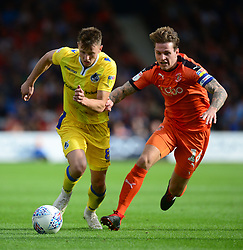 Ollie Clarke of Bristol Rovers battles for the ball with Glen Rea of Luton Town - Mandatory by-line: Alex James/JMP - 15/09/2018 - FOOTBALL - Kenilworth Road - Luton, England - Luton Town v Bristol Rovers - Sky Bet League One