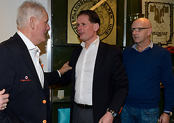 12-12-2015 NED: Bondsvergadering Nevobo, Nieuwegein<br /> Hans Nieukerke is vandaag benoemd tot erevoorzitter van de Nevobo. De 73-jarige Nieukerke ontving in het Huis van de Sport deze eer bij het afscheid van zijn twaalfjarig voorziterschap en kreeg de unieke gouden bondsspeld met drie briljanten opgespeld.