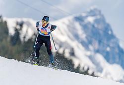 02.03.2019, Seefeld, AUT, FIS Weltmeisterschaften Ski Nordisch, Seefeld 2019, Nordische Kombination, Langlauf, Team Bewerb 4x5 km, im Bild Akito Watabe (JPN) // f.l. Akito Watabe of Japan during the Cross Country Team competition 4x5 km of Nordic Combined for the FIS Nordic Ski World Championships 2019. Seefeld, Austria on 2019/03/02. EXPA Pictures © 2019, PhotoCredit: EXPA/ Stefan Adelsberger