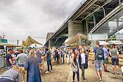 Nederland, The Netherlands, Nijmegen, 9-7-2016Recreatie, ontspanning, cultuur, dans, theater en muziek in de binnenstad. Cultuurfestival de Kaaij, kaai . Een van de feestlocaties in de stad tijdens de zomerfeesten en de 100e vierdaagse . Foto: Flip Franssen