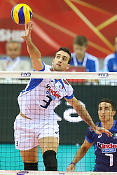 06.09.2014, Krakow Arena, Krakau, POL, FIVB WM, Puerto Rico vs Italien, Gruppe D, im Bild Simone Parodi (ITA) // during the FIVB Volleyball Men's World Championships Pool D Match beween Puerto Rico and Italy at the Krakow Arena in Krakau, Poland on 2014/09/06. EXPA Pictures © 2014, PhotoCredit: EXPA/ Newspix/ Tomasz Jastrzebowski<br /> <br /> *****ATTENTION - for AUT, SLO, CRO, SRB, BIH, MAZ, TUR, SUI, SWE only*****