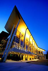 Stock photo of downtown Houston's Hobby Center