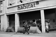 Homeless tents outside Habitat, 29 November 2018