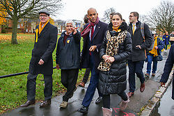© Licensed to London News Pictures. 25/11/2019. Watford,  Hertfordshire UK. Liberal Democrat Foreign Affairs Spokesman and candidate of Cities of London & Westminster, CHUKA UMUNNA (2nd Right) joins Councillor for Central Watford Ward, RABINDRANATH MARTINS (2nd left) and party activist for national canvassing in Watford. Britons go to the polls on 12 December in a General Election.Photo credit: Dinendra Haria/LNP