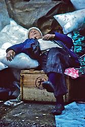 Man Sleeping On Cotton