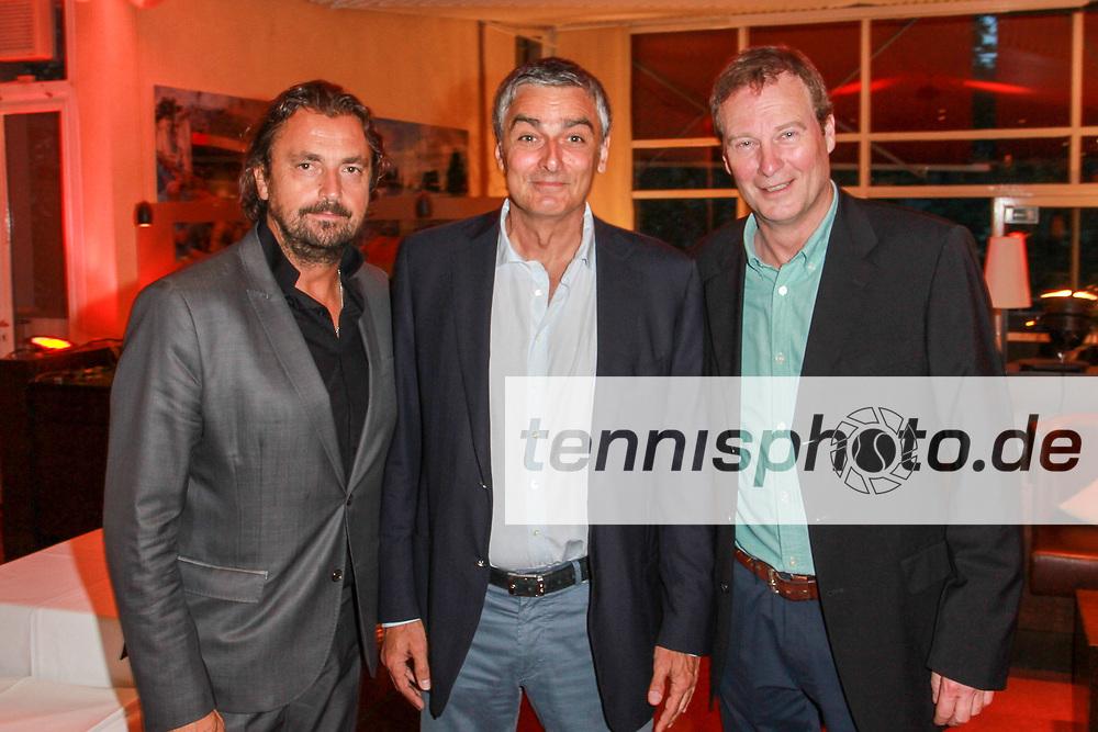 Henri Leconte, xx, Frank Lichte, Welcome-to-Berlin-Party, Allianz Kundler Grand Champions, LTTC Rot-Weiss, Berlin, 26.06.2016
