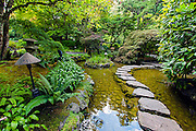 Japanese garden in Butchart Gardens, Victoria, Vancouver Island, Canada Image available as a premium quality aluminum print ready to hang.
