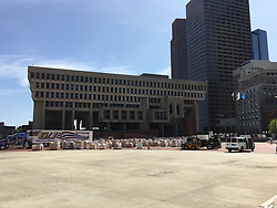 September 1, 2017 - Boston, Massachusetts, U.S - Bostonians are preparing to ship disaster relief supplies donated by the public to Hurricane Harvey victims in Texas. (Credit Image: © Kenneth Martin via ZUMA Wire)